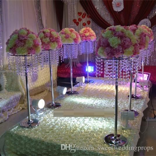 fioriere Centrotavola da sposa in piume di struzzo