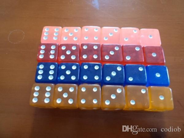 6 сторонняя ясно кости 19 мм квадратные углы прозрачные кубики Кристалл бозон акриловые КТВ бар ночной клуб питьевой игры кости хорошая цена #F8
