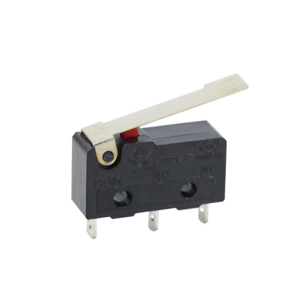 10pcs lentiga de limite, 3 pinos alça longa, n / o n / c todos os novos 5A 250Vac kw11-3z micro switch fábrica venda direta
