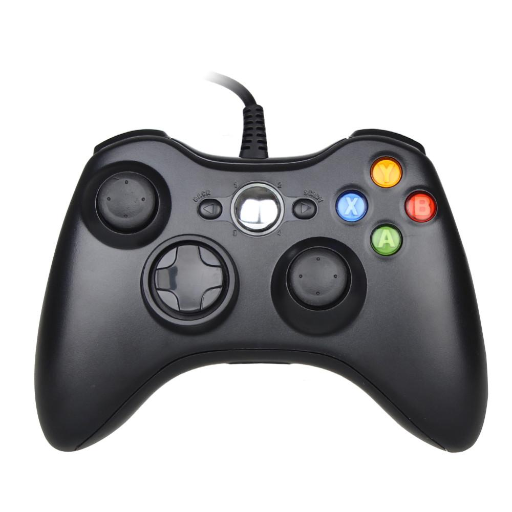 Black Usb Wired Gamepad Controller For Xbox 360 Controller Joystick ...