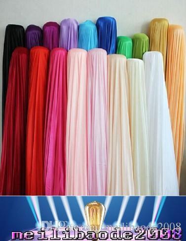 """Seidengewebe Hochzeit Hintergrund Breite 150 cm (59 """") Satin Stoff Dekoration Massivfarbe Tuch / Leistungsbekleidung Stoffe Kleidung Futter Myy"""