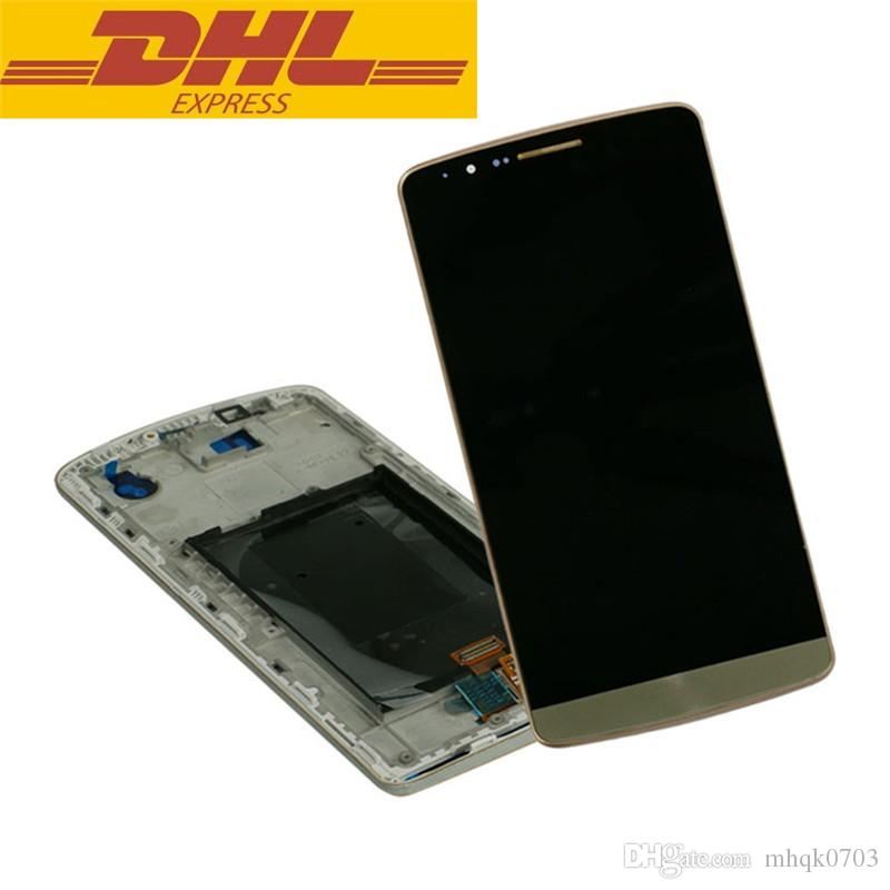 For LG G3 D855 D850 Original Front LCD Display Touch Screen With Digitizer Bezel Frame Assembly Replacement Wholesale