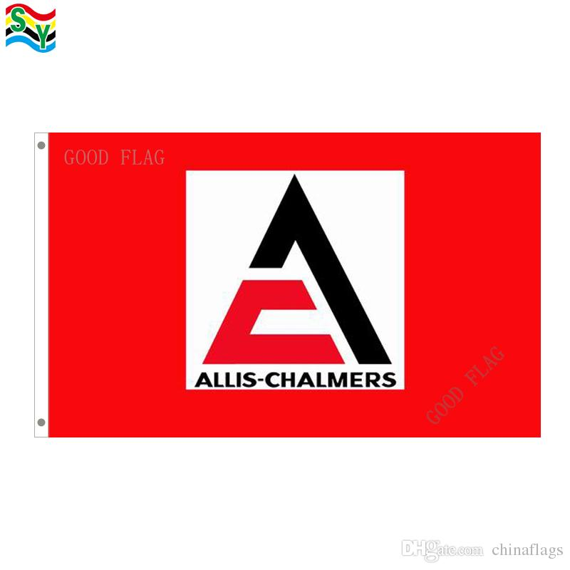 GoodFlag Kostenloser Versand allis-chalmers rote flagge banner 3X5 FT 90 * 150 CM Polyster Outdoor Flagge