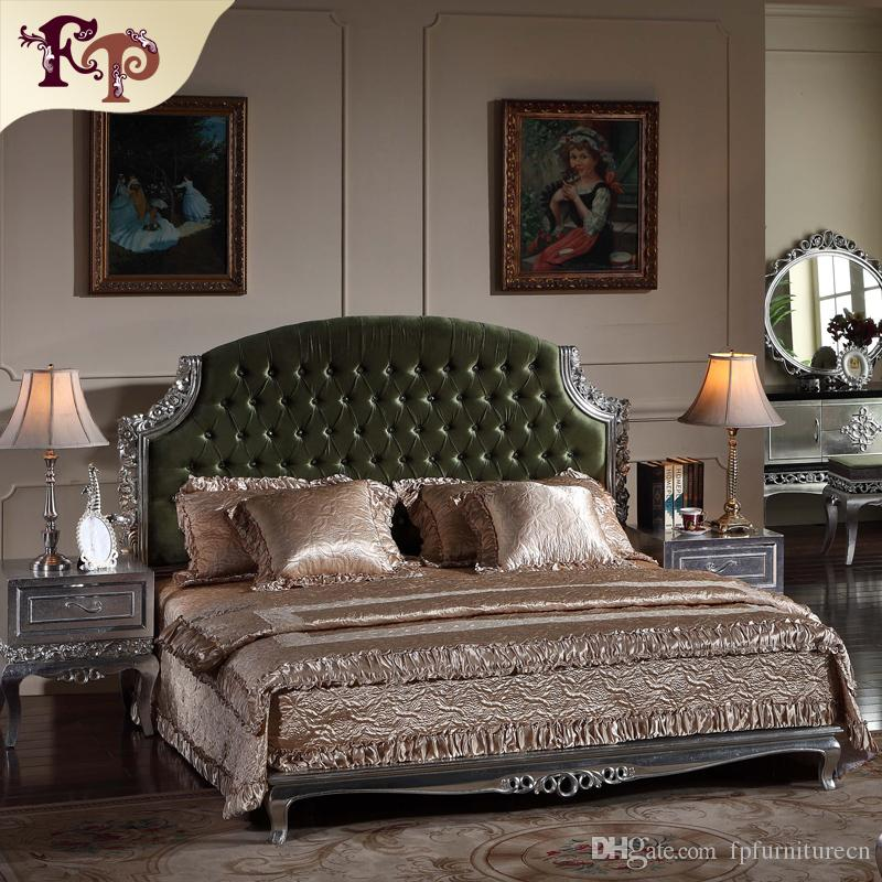 2019 Neoclassic Luxury Bedroom Furniture Antique Bed Solid Wood Carved  Furniture With Silver Leaf Gilding From Fpfurniturecn, $2743.72 | DHgate.Com