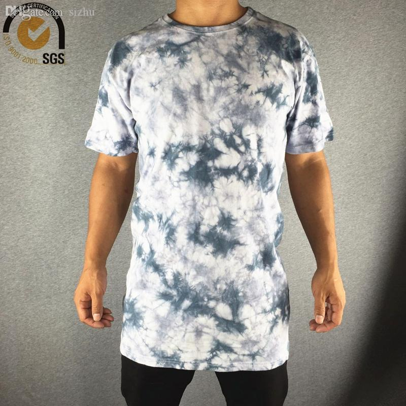 Wholesale-Mens Washed T Shirt Vintage Style Long Washed Tees Casual Fitting Washed Retro T Shirt for Men Tie Dye T Shirts Men