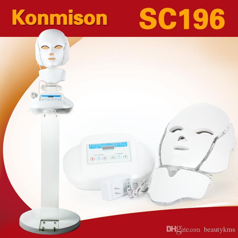 3 en 1 Photon Therapy Mascarilla facial LED NeckFace PDT Máquina facial con soporte para uso en salón de belleza para el rejuvenecimiento de la piel
