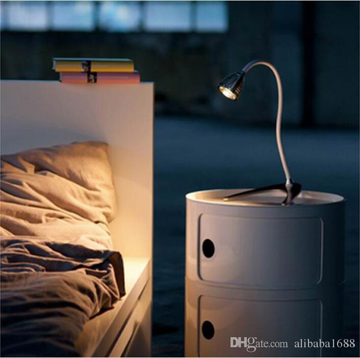 Enfriar LED de 1W Libro Luces de cuello flexible de luz LED de lectura para el estudio del dormitorio del hotel Decoración cubierta de aluminio de CE RoHS SAA UL certificados TUV