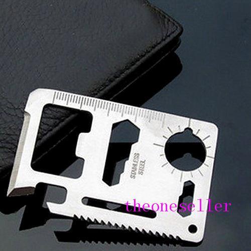 Ferramentas novo multi 11 em 1 multifunções exterior Caça cartão de ferramenta de sobrevivência Camping bolso Militar cartão de crédito faca de prata preto