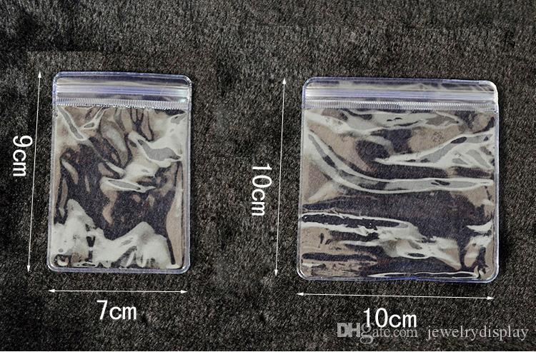 Moda 100 unids 10 * 10 CM de plástico transparente Shopping Ziplock Bag 10X10cm de plástico del bolso de la joyería Mini bolsas de regalo para Boutique envío gratis