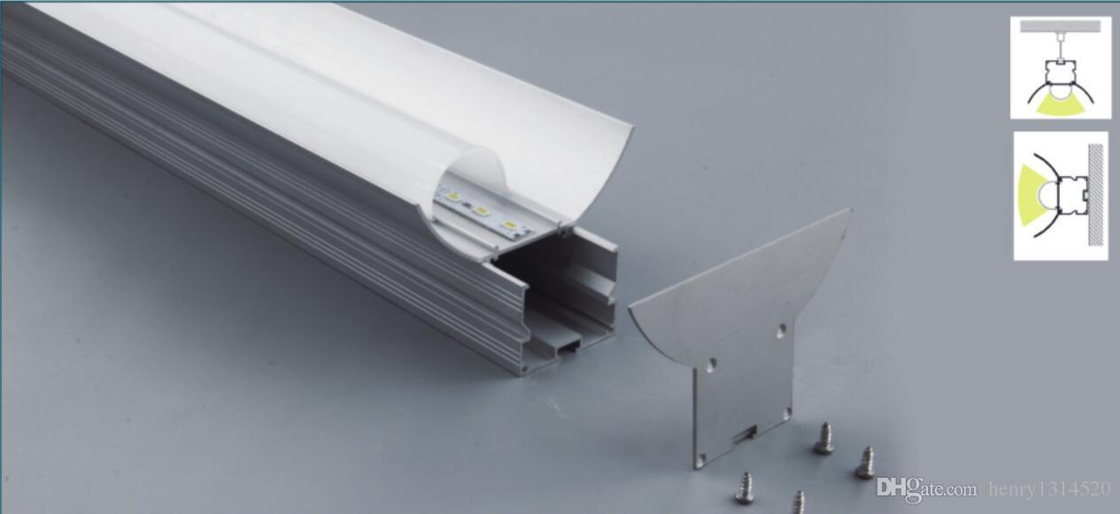 Free Shipping High Quality 2000mmX93mmX58mm 2.5M/pcs 10pcs/lot led aluminium profile for led bar light, led strip aluminum channel
