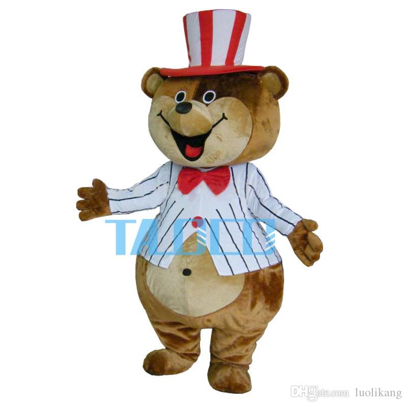 Énorme Teddy Mascot Costumes Brown Bear Costumes Livraison gratuite