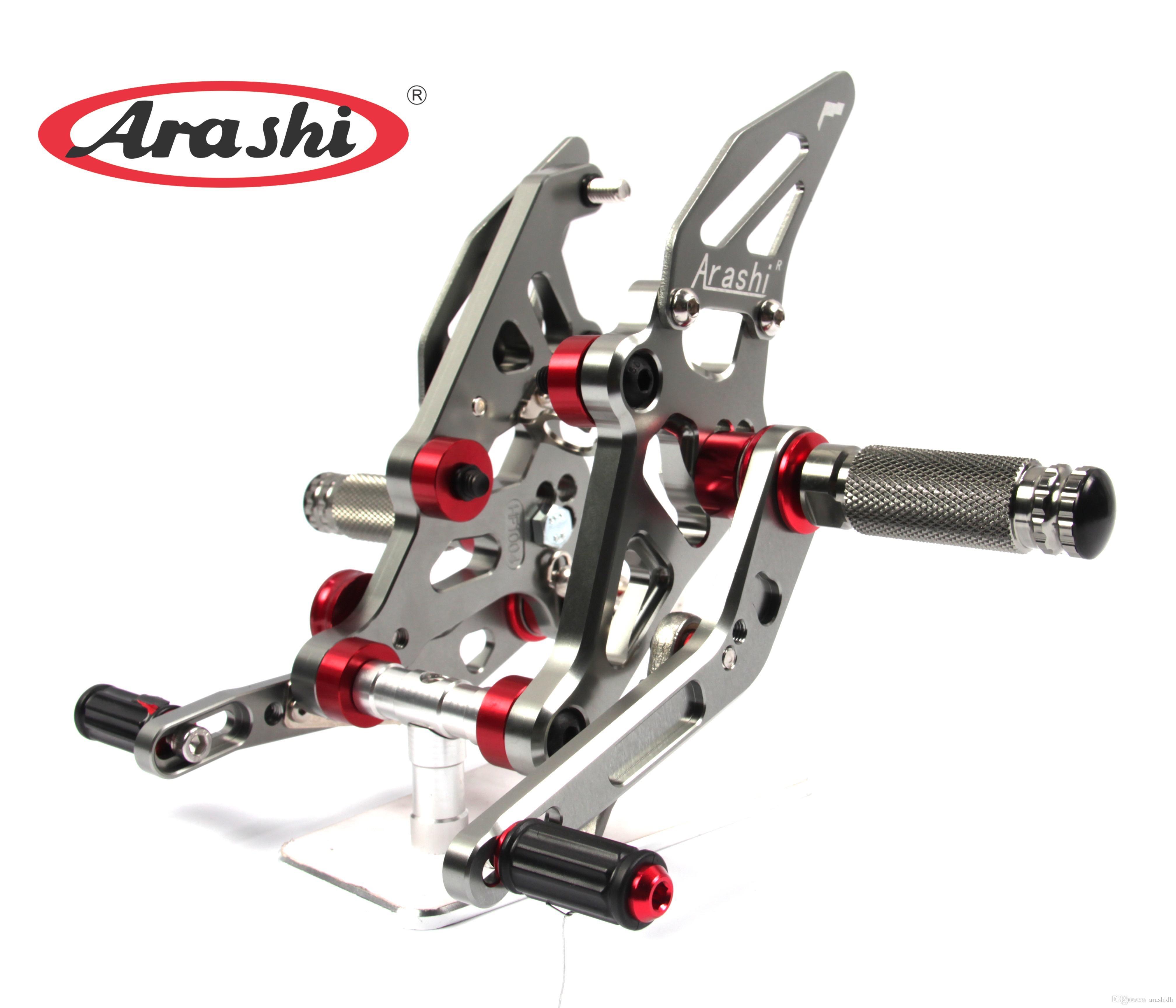 Arashi Rearsets Footrests FootPegs for YAMAHA MT07 FZ07 2014-2019 MT-07 FZ-07 Motorcycle Accessories Adjustable Foot Peg Rest 1 Set Black MT FZ 07 2015 2016 2017 2018