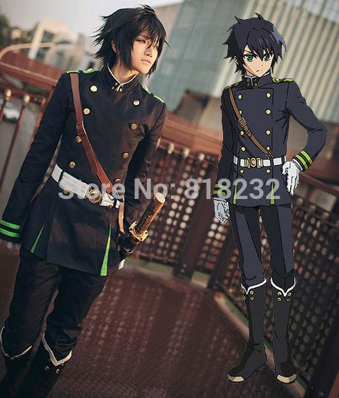 Seraph of the end Yuichiro Hyakuya military uniform Cos Cosplay Costume