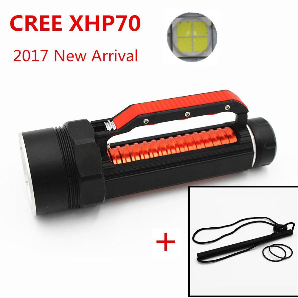 KC Fire 2017 Nouvelle lampe torche plongée CREE XHP70 LED haute luminosité 5000 Lumens Underwater 100M lumière blanche étanche DL0059B