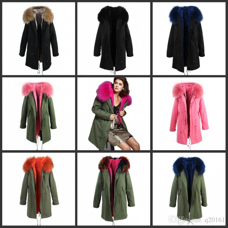 зима куртка меховые куртки, тонкие женщины 2017 Большой толстый реальный с капюшоном пальто каминные Luxus Faux Fuchs идет верхняя одежда Марка качество корма