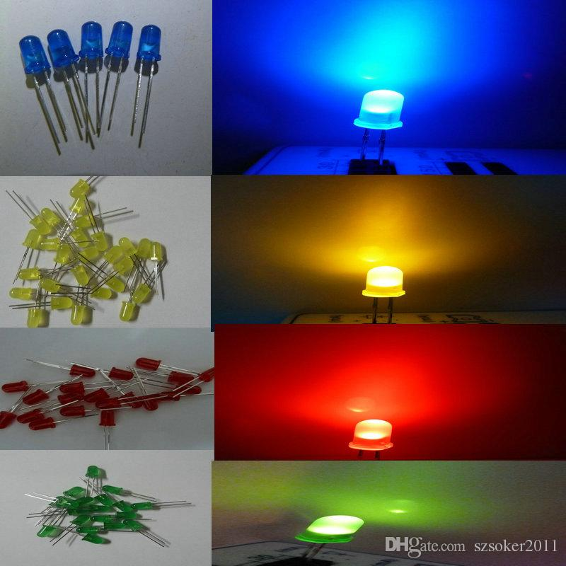 Diffused Flashing Light Emitter Milky 5mm LED Diode Ultra Bright Clear