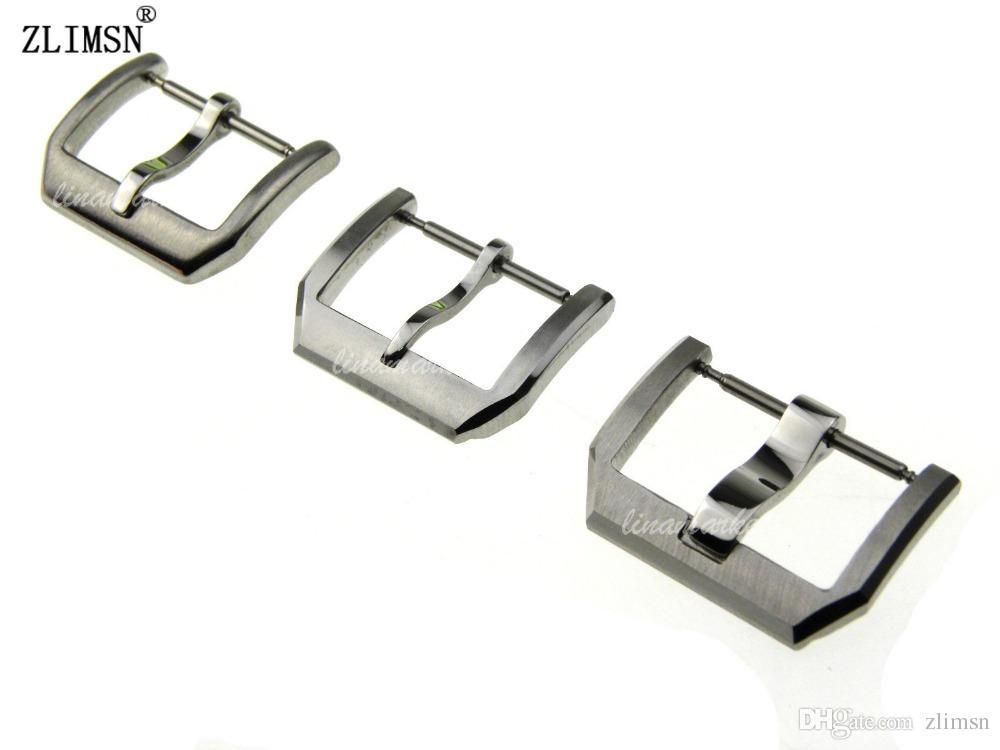ZLIMSN Uhrenarmbänder 18mm 20mm 2016 HQ Silber SS Armbänder Verschluss Schnalle FÜR IWCWATCH Strap Schnalle Edelstahl Uhr Schnalle