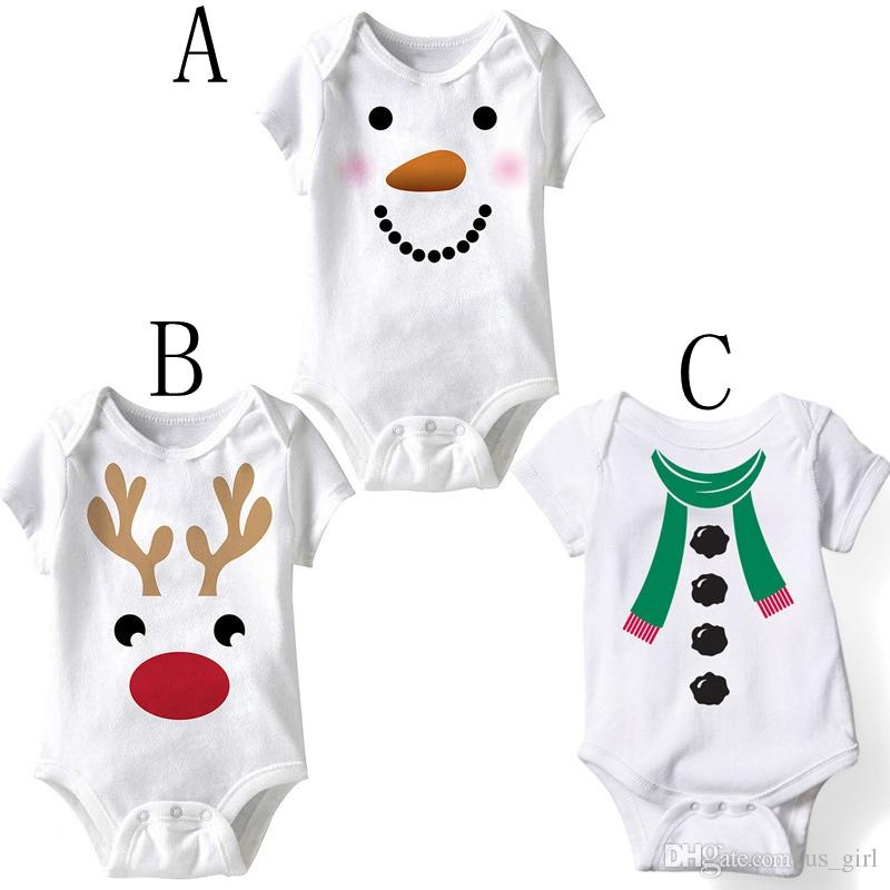 Baby Clothes Womail Short Sleeve Christmas Outfits Newborn Romper for Boys Girls