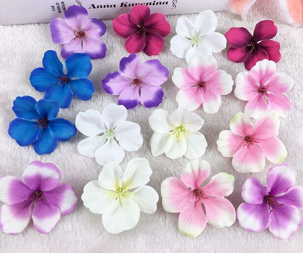 아름 다운 실크 꽃 단일 레이어 진짜 터치 수 선화 머리 9 색 결혼식 장식 디스플레이 꽃을위한