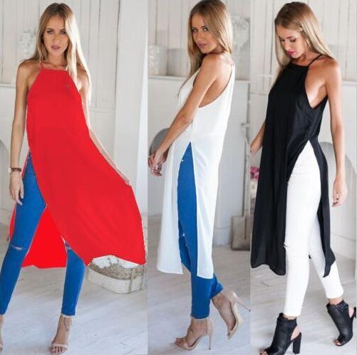 2016 Nouveau modèle Camisole Vent sexy Maxi plage Denim travail Bodycon Cheap Casual pour fibre de polyester (Di Robe femme Robes d'été de Split