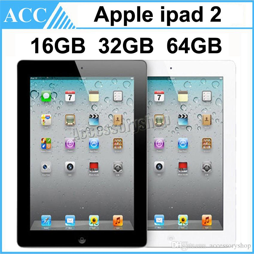 단장 한 원래 애플 iPad 2 와이파이 버전 16 기가 바이트 32 기가 바이트 64 기가 바이트 9.7 인치 IOS 듀얼 코어 1GHz A5 칩셋 태블릿 PC DHL 1pcs