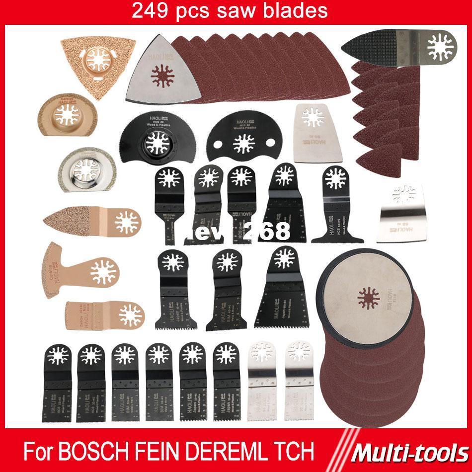 249 teile / satz Oszillierende multi Werkzeug Sägeblatt zubehör fit für Multimaster power tools wie Fein, Dremel etc, schneiden metall holz,