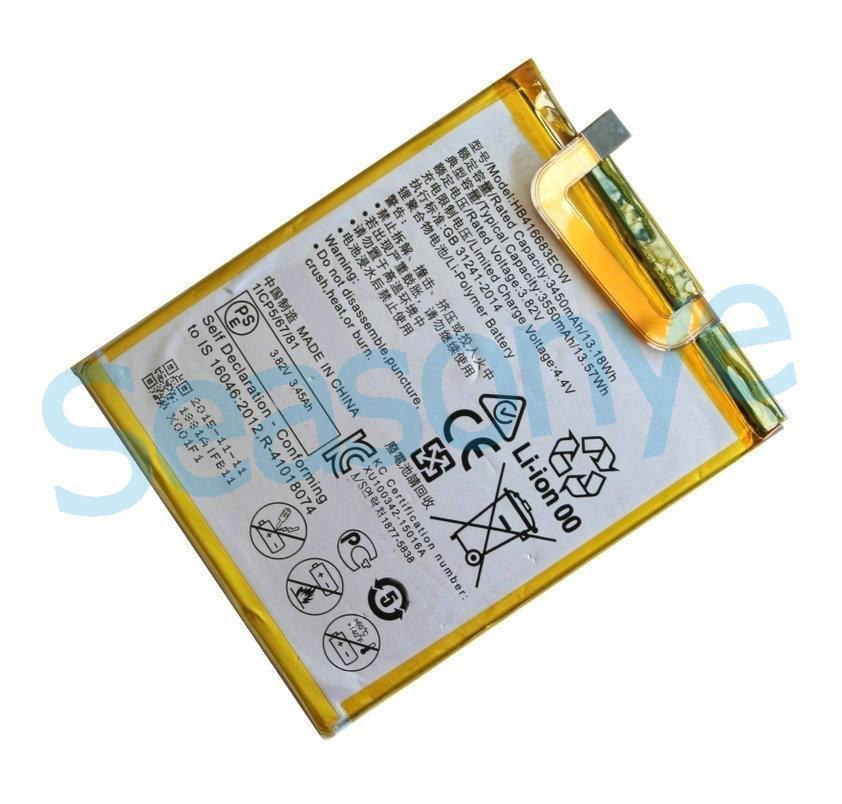10 pz / lotto 3450 mAh / 13.18 Wh H HB416683ECW 3.82 VDC Sostituzione Li-Polimero Batteria Per Huawei Ascend Nexus 6P Angler H1511 H1512