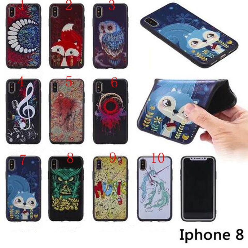 3D Soft Tpu Gufo Note Musicali Cavallo Dente Elefante Cover Iphone X 8 G 7 Plus 6 S Plus 5 S Samsung S8 Plus Note8 Da Caseseller, 1,08 €   ...