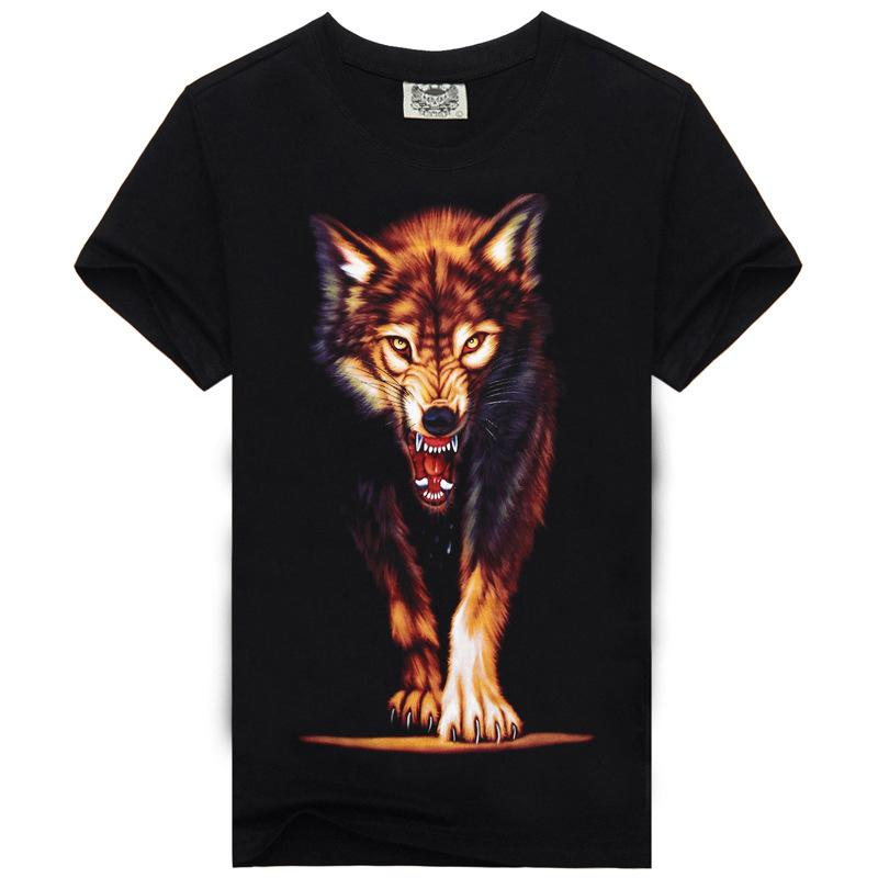 2016 New Fashion Men's Cool 3d Gun Print Cotton Brand T Shirt Men 3D Tshirt Clothes Animal Causul T-Shirts