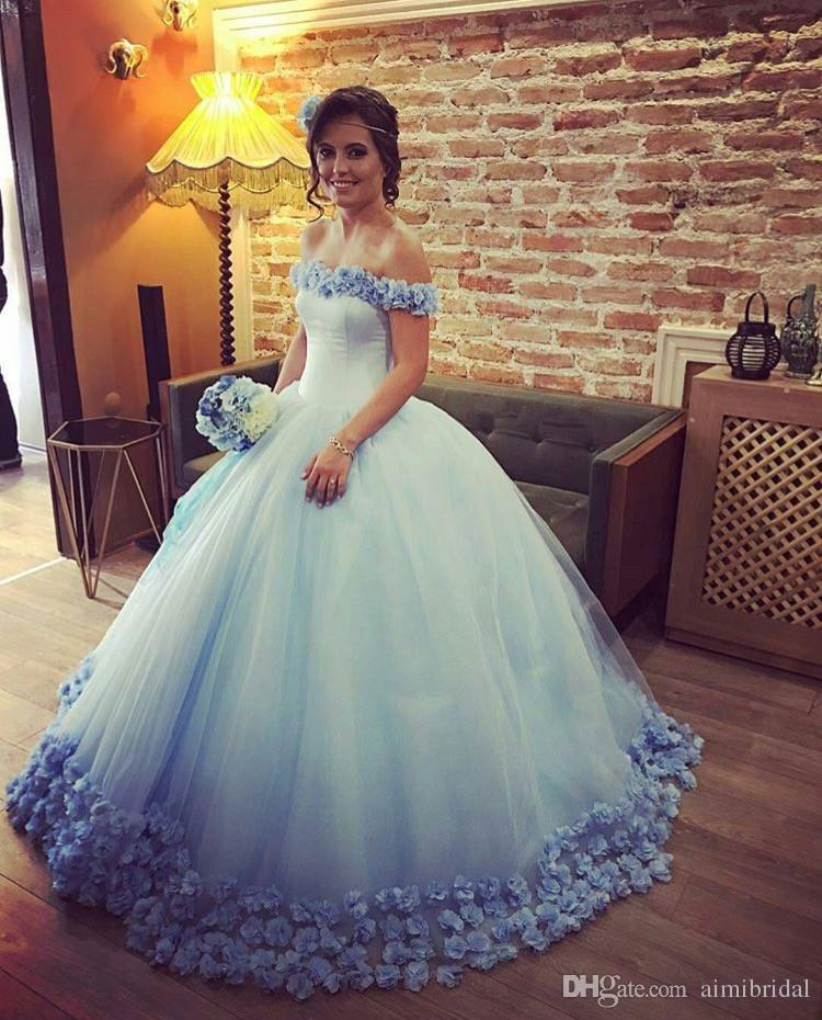 Pink Ball Gown Floral Cap Sleeves Wedding Dress Princess Boat Neck ...