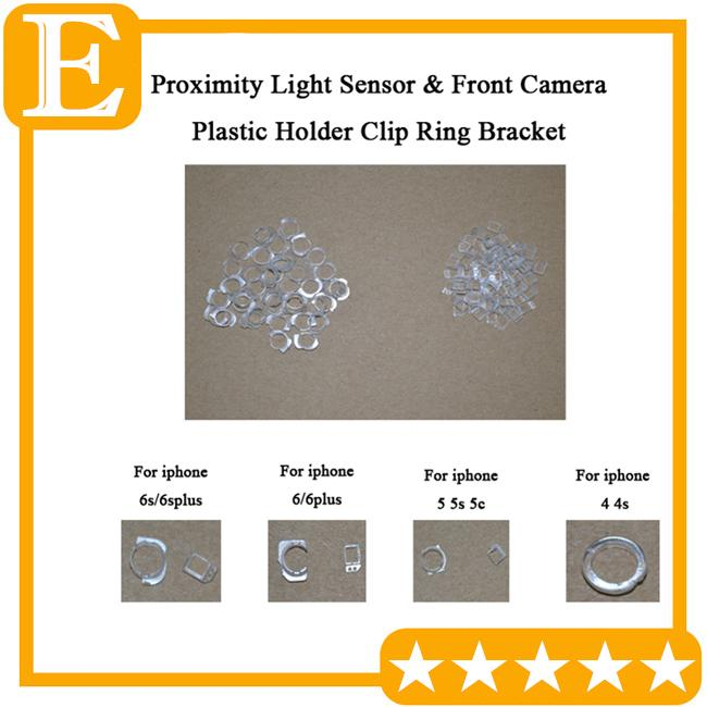 Atacado-original suporte do anel da câmera sensor de luz de proximidade suporte de plástico titular clipe cap cap para iphone 4 5 5s 5c 6 6 s além de peça de reposição