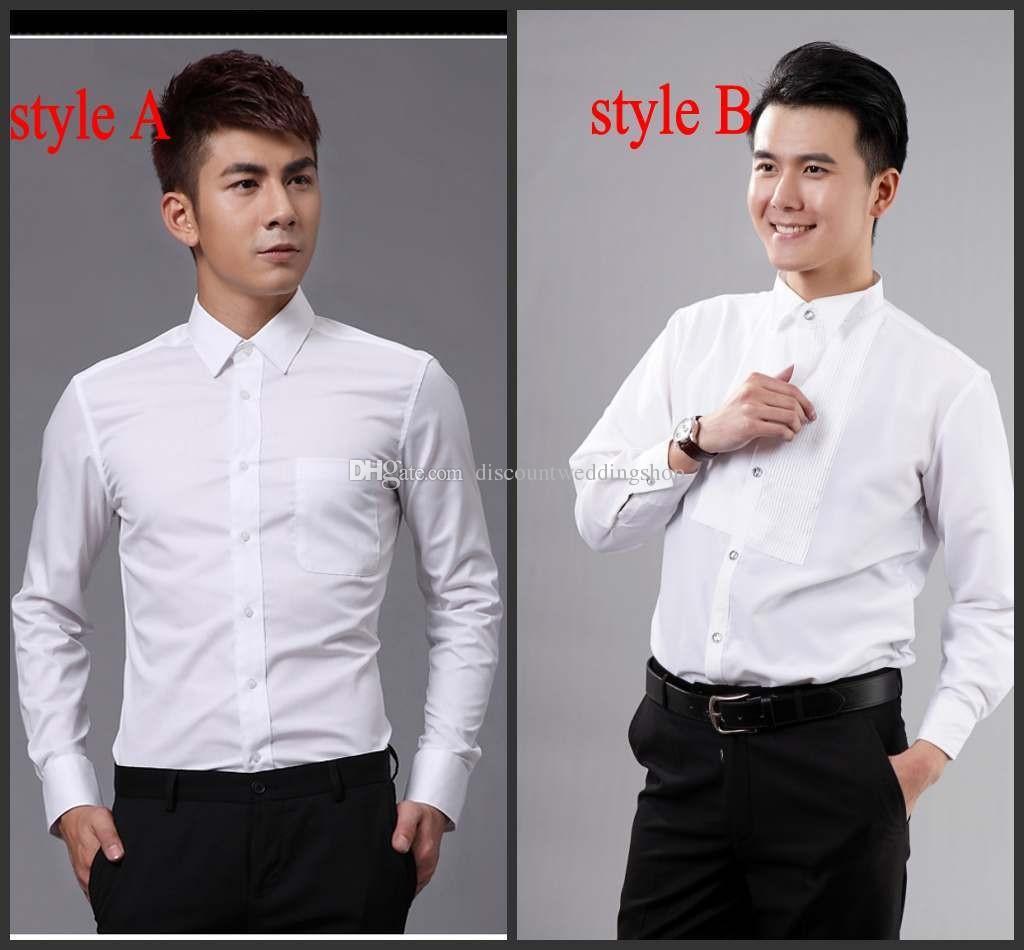 Camicie da sposo di alta qualità Camicie da uomo migliori Camicie da matrimonio / ballo Misura standard J1