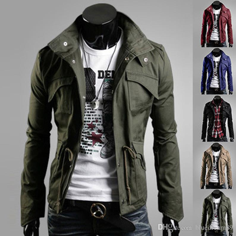 British autumn men jackets large size designer mens brand jackets winter coat Slim lapel jacket fashion plus size jackets for men s coats
