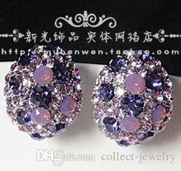 Pendientes de dama de estrella brillante de diamante completo (2.2cm * 1.6cm) (mubenwen)