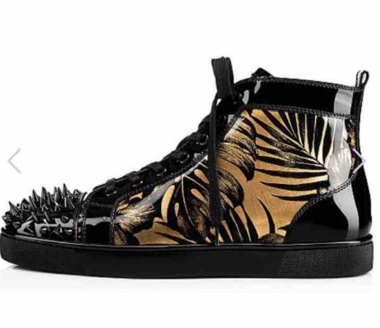 2017 nuevos hombres zapatos con cordones zapatillas de deporte de los hombres zapatos de fiesta de cuero de impresión de tacón grueso zapatos casuales altos zapatos rojos únicos zapatos masculinos