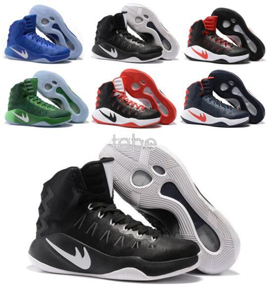 new styles ca513 65fba Top Basketball Shoes Hyperdunk 2016 Men Sneakers China Zoom Replicas Summer  Meshs Hyperdunks Red Sneaker Size 40 46 Sneakers Online Shaq Shoes From ...