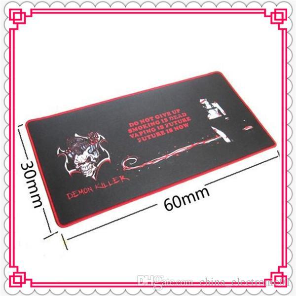 Demon Tueur Bar Mat 60 * 30 * 0.3 CM Rectangle Électronique Cigarette Bar Pad Caoutchouc Naturel + Multi-spandex Haute qualité DHL Gratuit