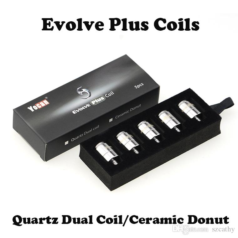 Original Yocan Evolve Plus QDC Coils and Ceramic Donut Coils 5pcs/pack 100pcs/box Replacement Coil for Yocan Evolve Plus Wax Pen