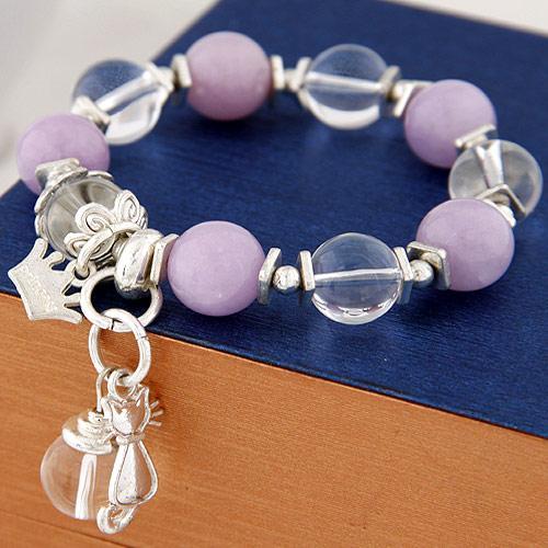High End Bohême Bijouterie Fantaisie Couronne Impériale Chats Perles Boules de cristal poignet Accessoires élastiques Charn Wrap Bracelets Multilayer pour les femmes