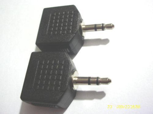 4 x 3,5 mm Stereo Plug Maschio a 2 x 3,5 millimetri Stereo Jack Audio Splitter adattatore