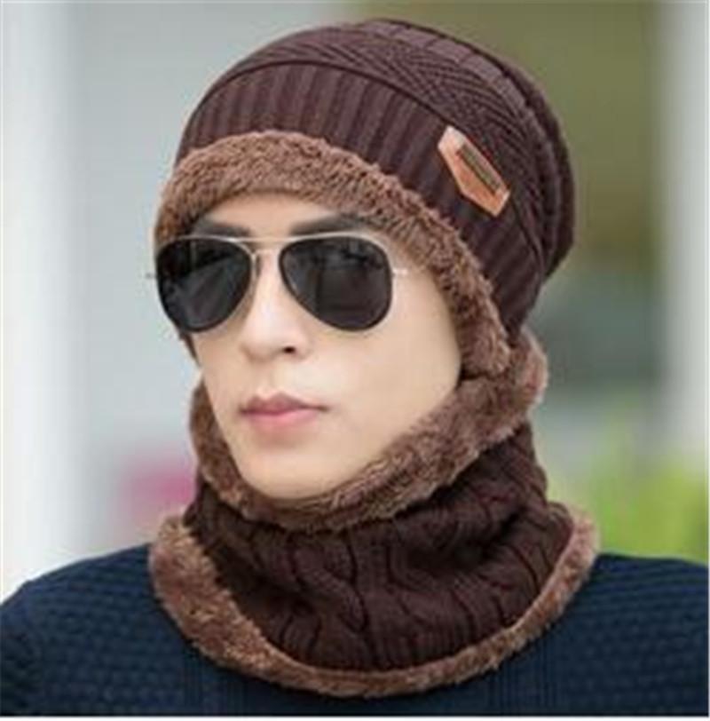 купить оптом шеи теплее зимняя шапка вязаная шапка шарф Cap зимние