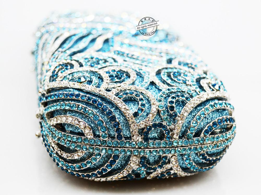 LaSC Women Luxury Borsa da sera interamente in cristallo Borsa fashion Day clutch Mini catena Deluxe Evening Purse pochette SC147