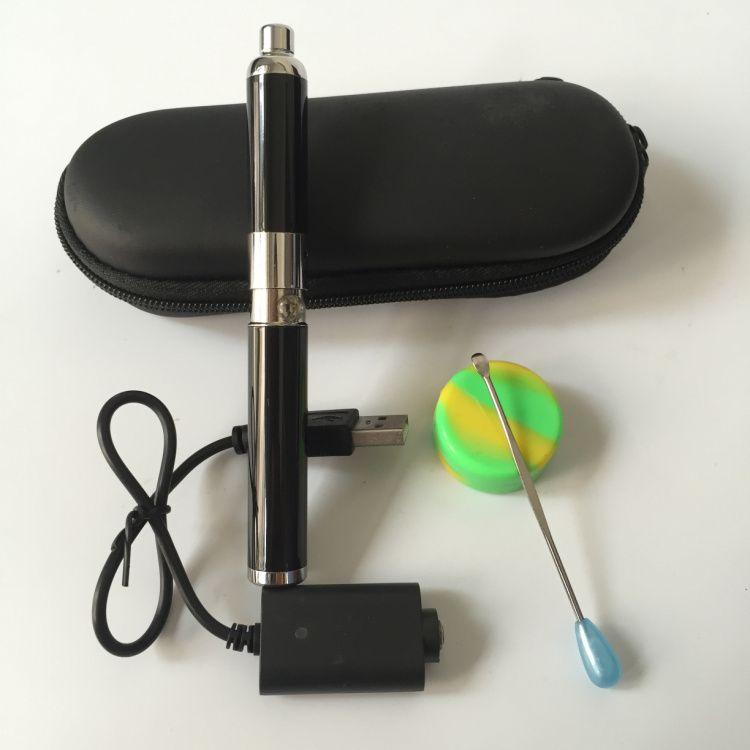 2016 Evolve vaporizer pen wax dual ceramic quartz coil electronic wax oil concentrate oil burning device micro pen kit