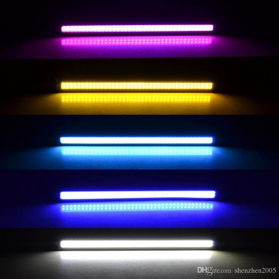 1 Pcs 2016 Nova atualização Ultra Brilhante LED Daytime Running luzes DC 12 V 17 cm 100% À Prova D 'Água Auto Car DRL COB Condução luz de Nevoeiro