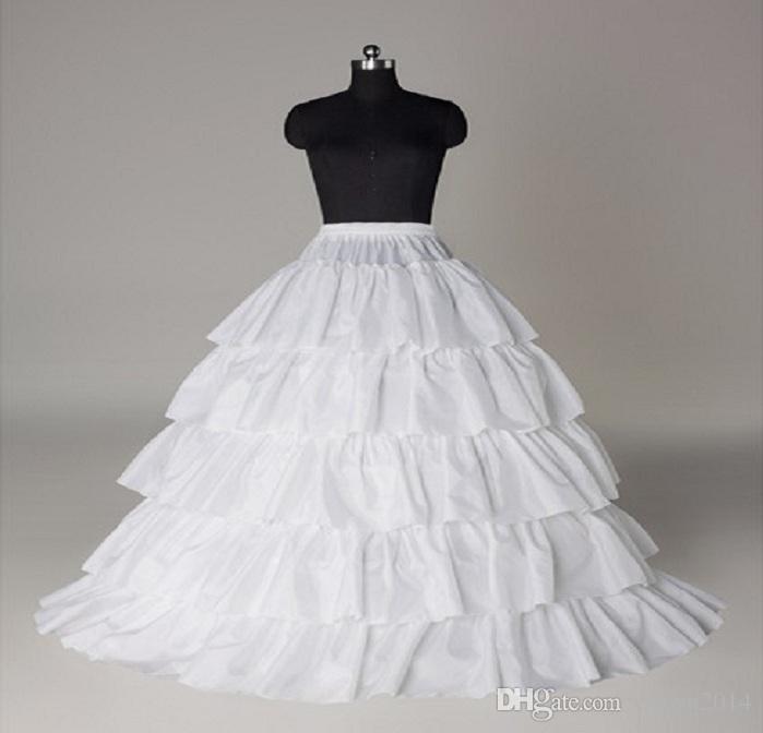 شحن مجاني زائد الحجم الأبيض الطبقات الكرة ثوب تنورات التنورة الزفاف القرينول الكرة أثواب الزفاف اكسسوارات شحن مجاني في المخزون