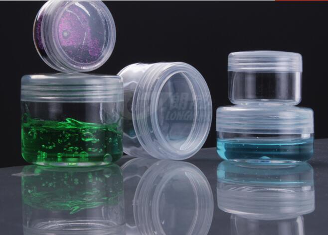 3g, 5g, 10g, 15g, 20g confezione trasparente bottiglia cosmetica bottiglia di campionamento piccolo regalo bottiglia di imballaggio buoni prodotti di trasporto libero 50 PZ