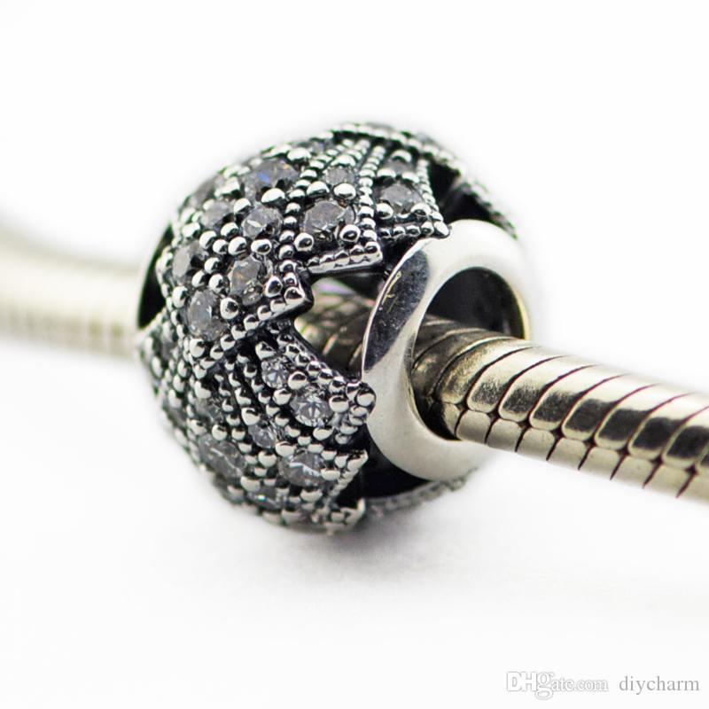 Branelli allentati 100% autentiche 925 perle in argento sterling con cz Fan Oriental Openwork Fits per bracciali Pandora 2016 nuova estate