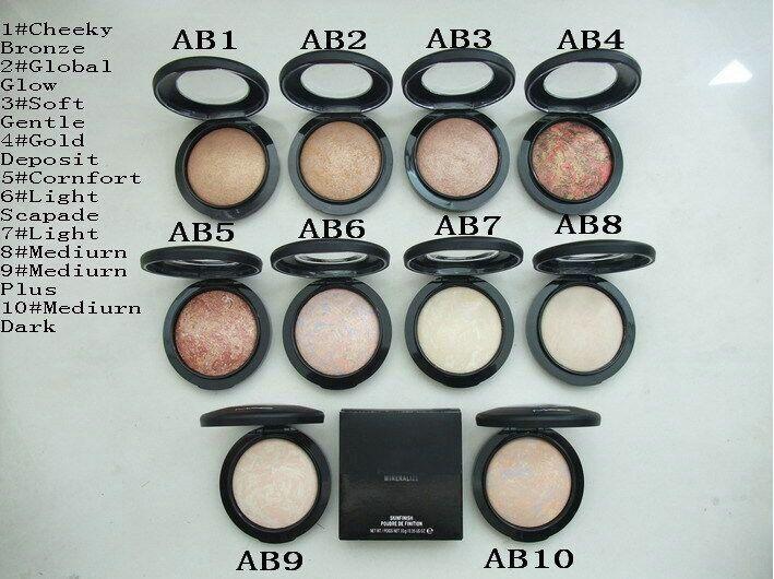 10PCS 2016 Mineralize Skinfinish Makeup Powder Natural 10 Colors Face Powder 10g