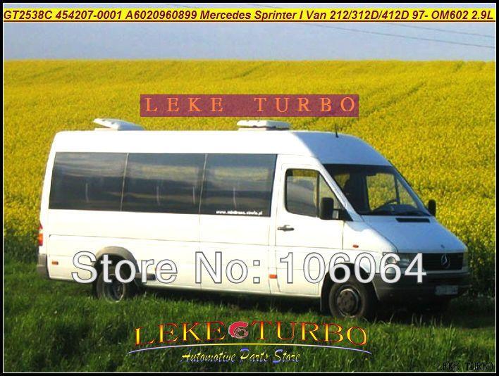 GT2538C 454207-0001 6020960899 For Mercedes-PKW Sprinter I Van 212D 312D 412D 2.9L OM611 141HP 2000-2006 turbocharger
