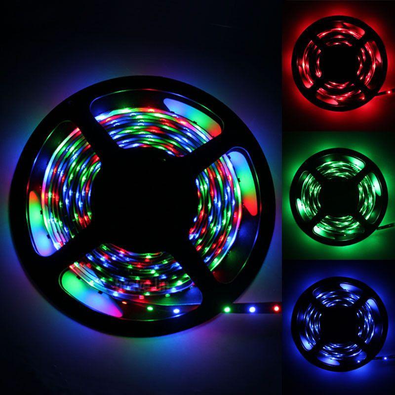 5M / Rouleau 3528 RVB 300 Led SMD Flexible Bande Lumière Lampe 200M + 44 clé IR X40 + 12V 2A Alimentation X40
